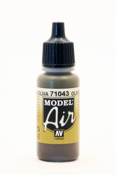 71043 vallejo model air olivbraun 100643 vallejo model air modelbaufarben lacke. Black Bedroom Furniture Sets. Home Design Ideas