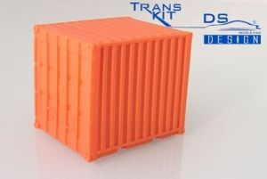 10 Fuß Container einschl. Bodenplatte, orange