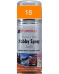 18 Humbrol Acryl-Spray Orange glänzend