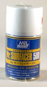 Mr.Surfacer 500 Spray, Grundierung und Sprayspachtel