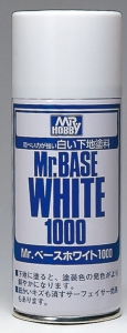 Mr.Base White Spray, Füller und Grundierung