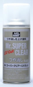 Mr. Super-Clear Spray, Klarlackspray matt, UV-beständig