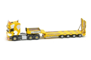 Keller Hess Scania R4 Topline 6x4 - Goldhofer 4 axle semi low loader