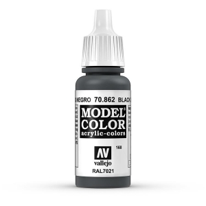 Vallejo Model Color 168 Schwarzgrau - Black Grey