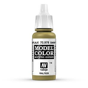 Vallejo Model Color 116 Currygelb - Dark Yellow