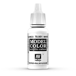 Vallejo Model Color 001 Weiss - White