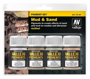"Vallejo Pigment Set Nr. 2 ""Mud and Sand"""