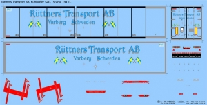 Rüttners Transport AB, Scania 144 TL, KühlkofferSZG