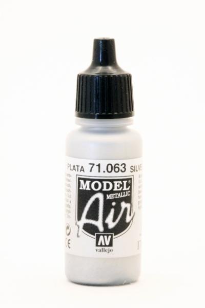 71063 vallejo model air silber metall 100663 vallejo model air modelbaufarben. Black Bedroom Furniture Sets. Home Design Ideas